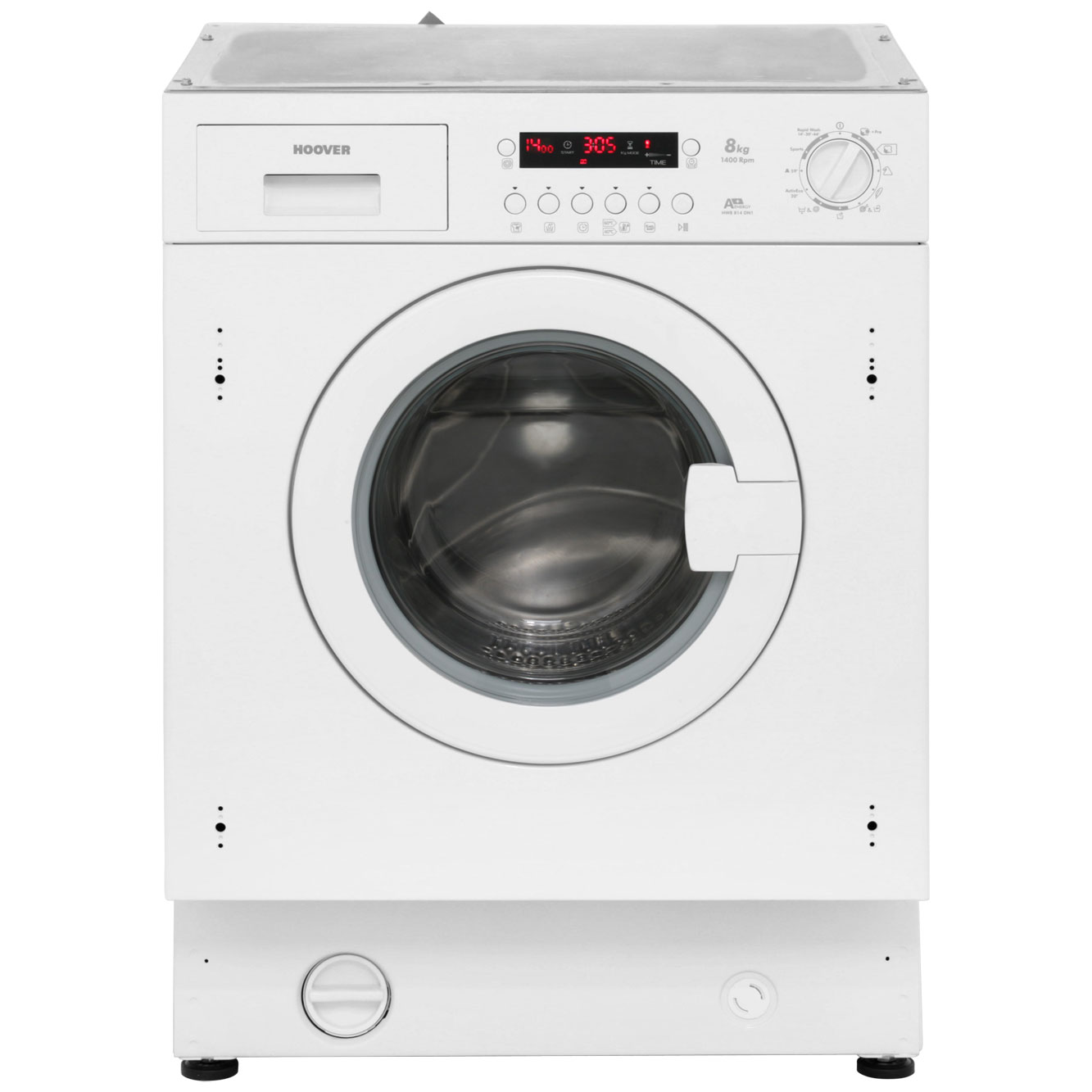 Hoover HWB814DN1 Integrated Washing Machine in White
