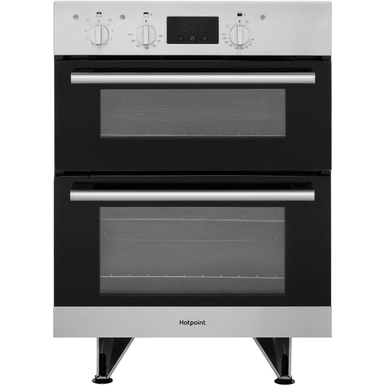 hotpoint du2540ix class 2 built under 60cm electric double oven stainless steel ebay. Black Bedroom Furniture Sets. Home Design Ideas