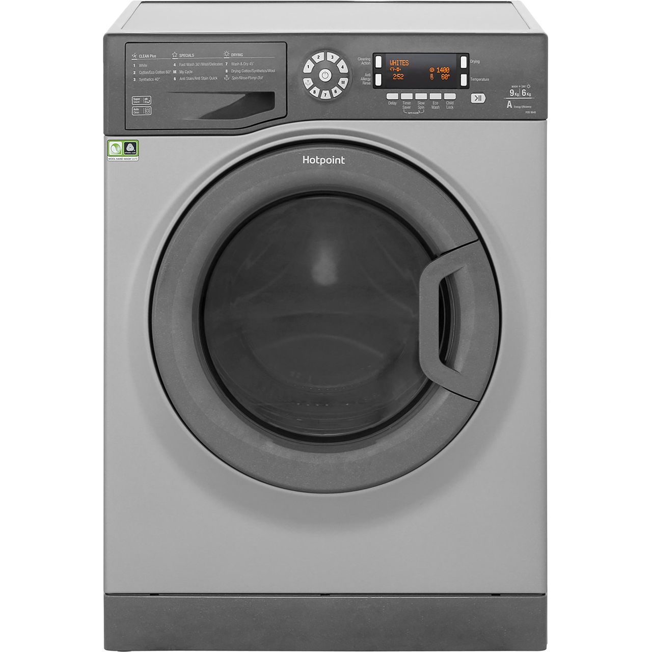 Hotpoint Fdd9640g Ultima Free Standing 9kg A Washer Dryer