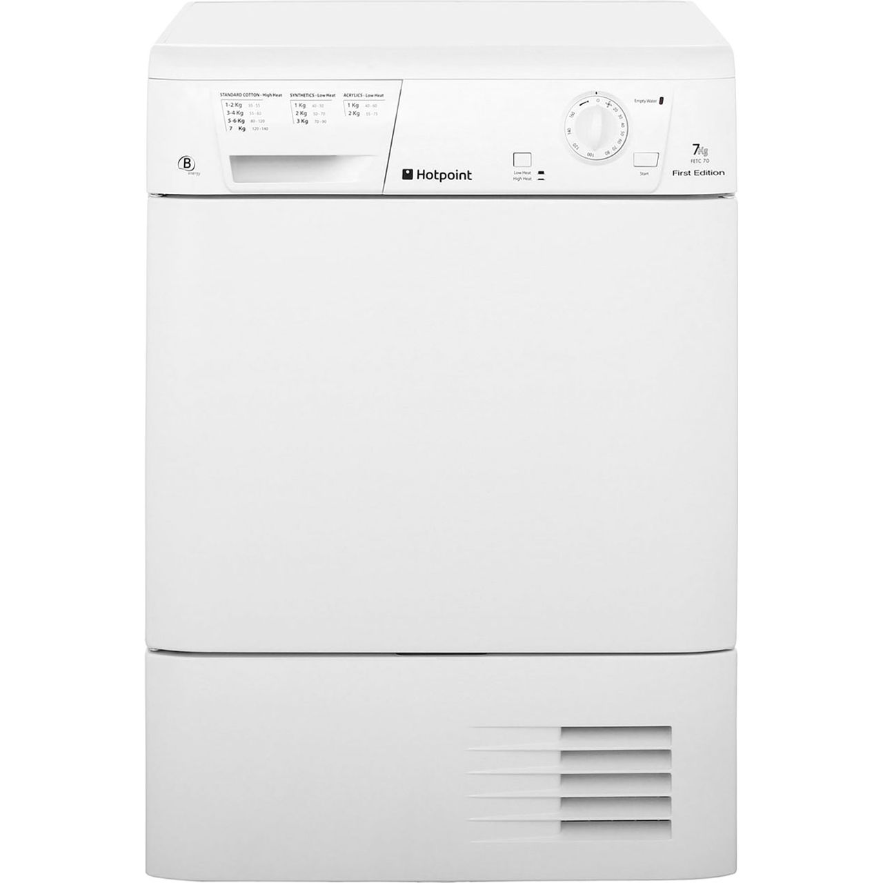 Hotpoint Aqualtis FETC70BP Free Standing Condenser Tumble Dryer in White