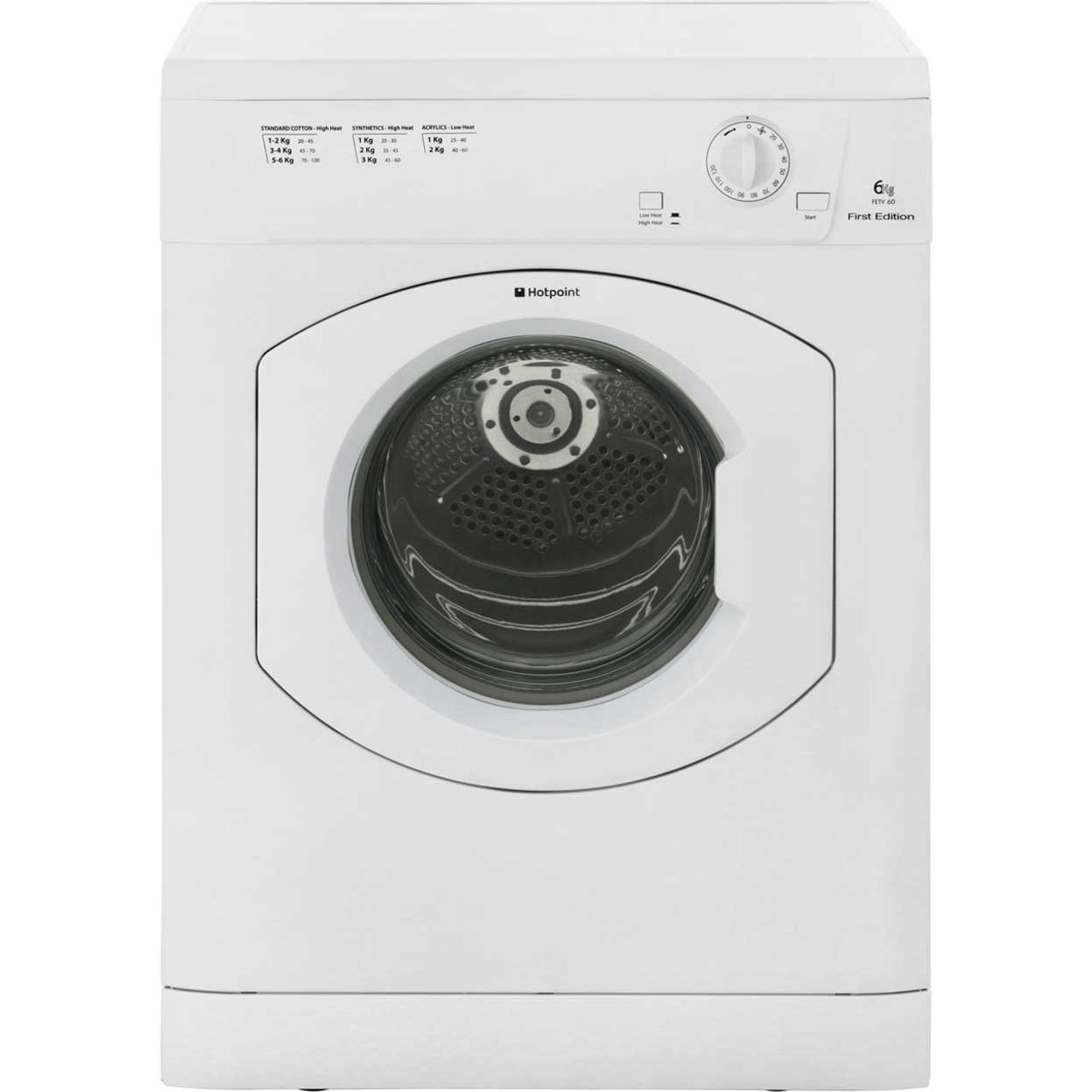 Bwe Tumble Dryer ~ Hotpoint fetv cp first edition c rated kg vented tumble
