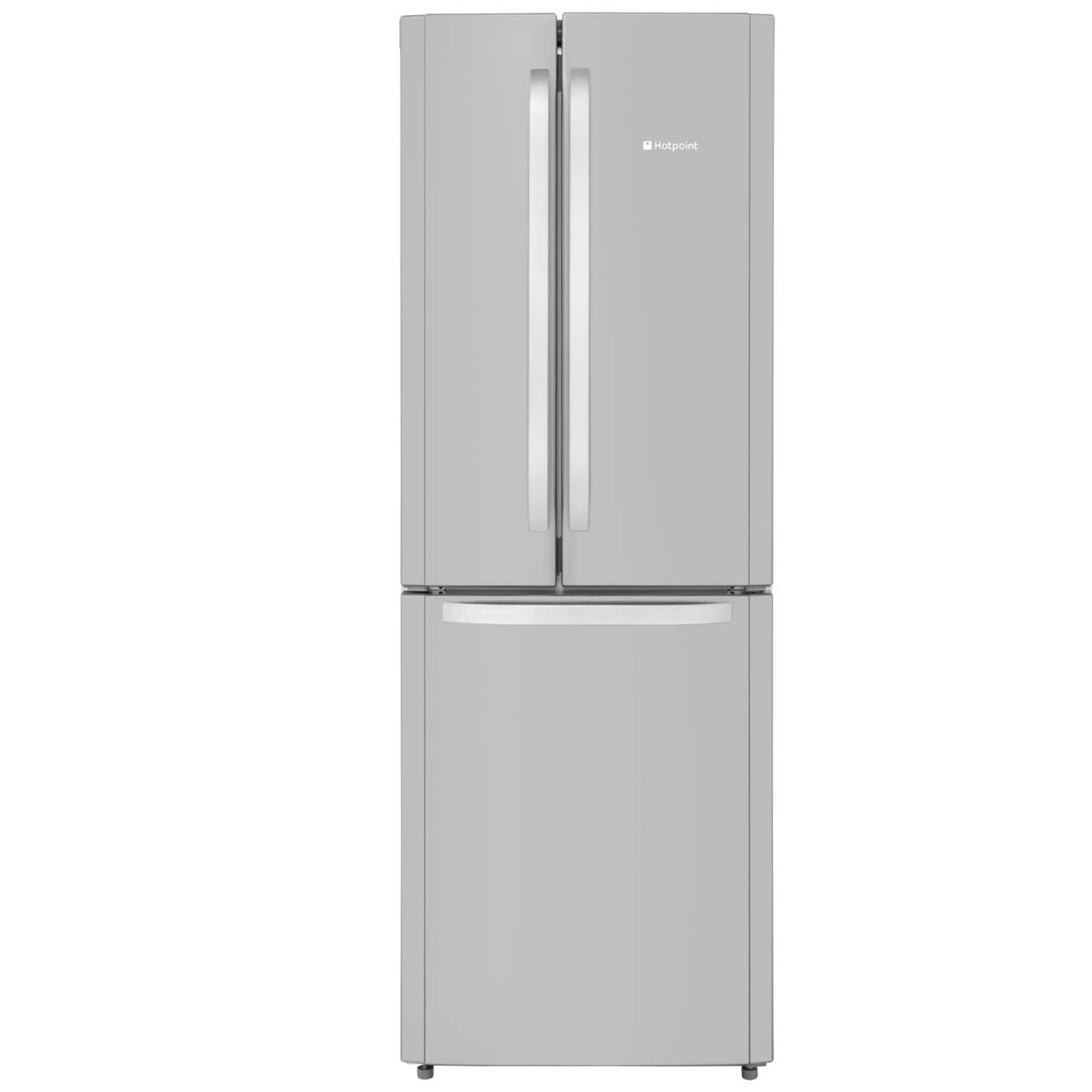 Hotpoint Trio FFU3DX Free Standing Fridge Freezer Frost Free in Stainless Steel
