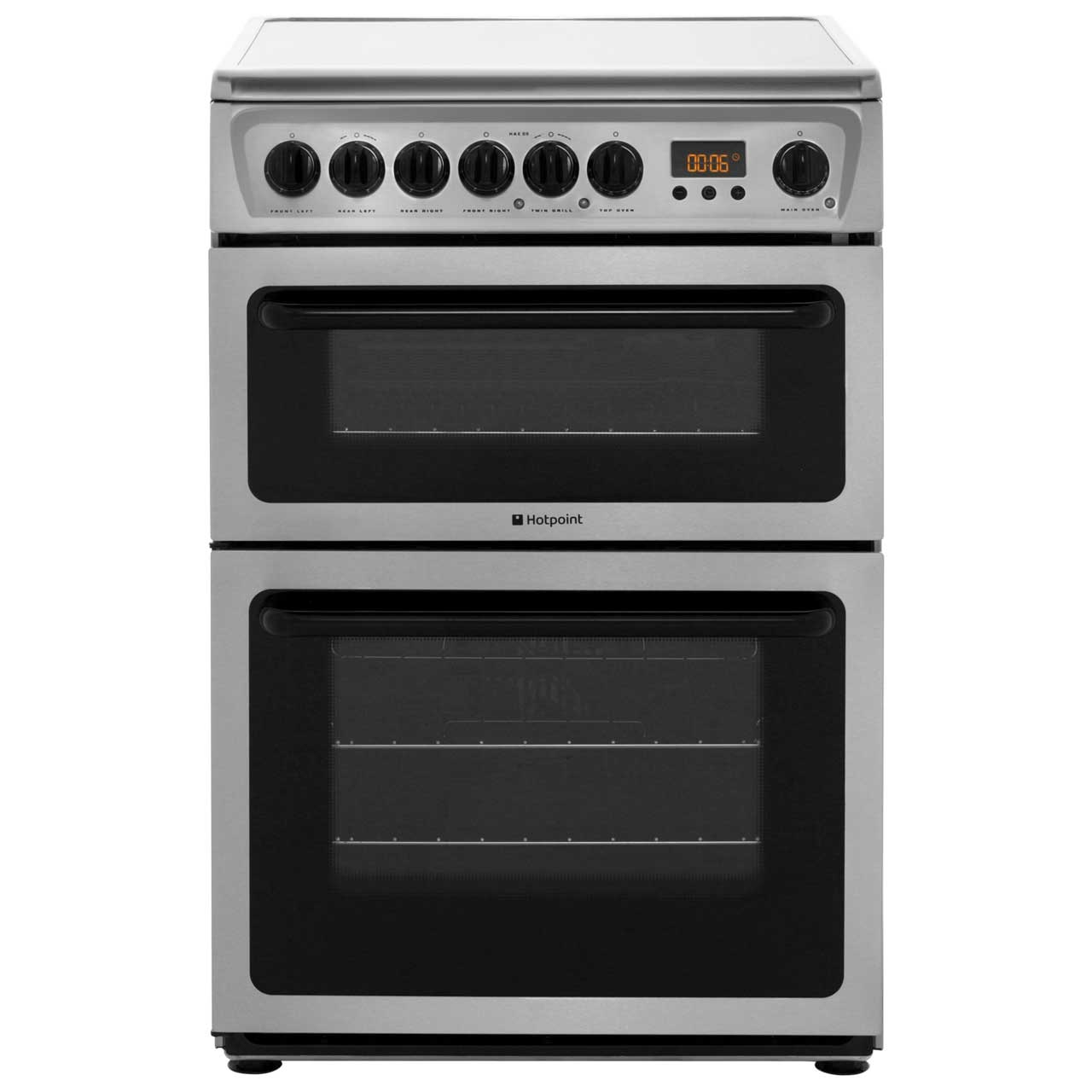 Hotpoint HAE60XS Electric Cooker with Ceramic Hob - Stainless Steel
