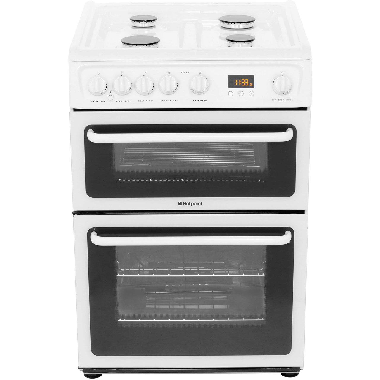 Hotpoint HAG60P 60cm Gas Cooker with Variable Gas Grill Polar White