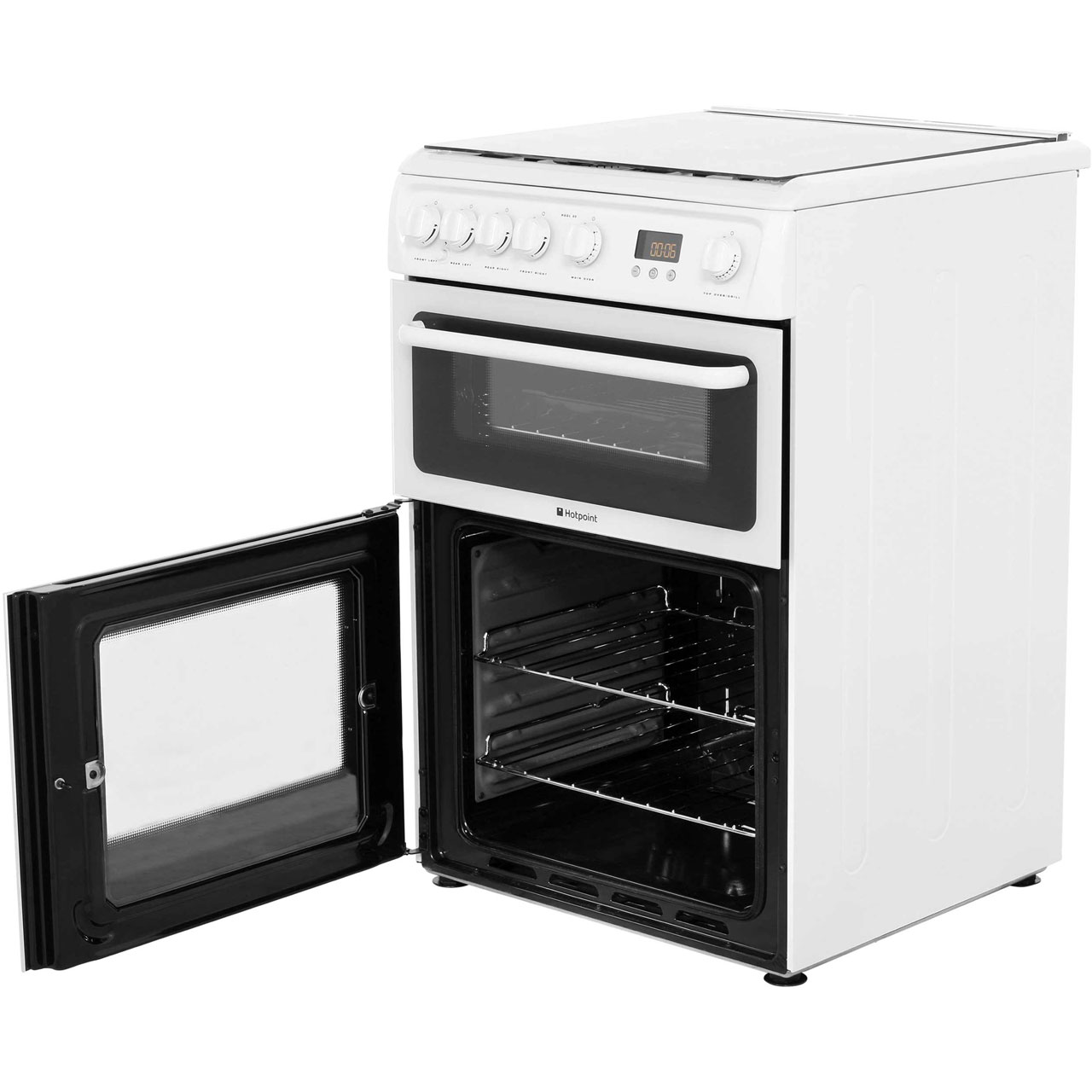 Hotpoint Hagl60p Free Standing Gas Cooker With Gas Hob 60cm White New 5016108844243