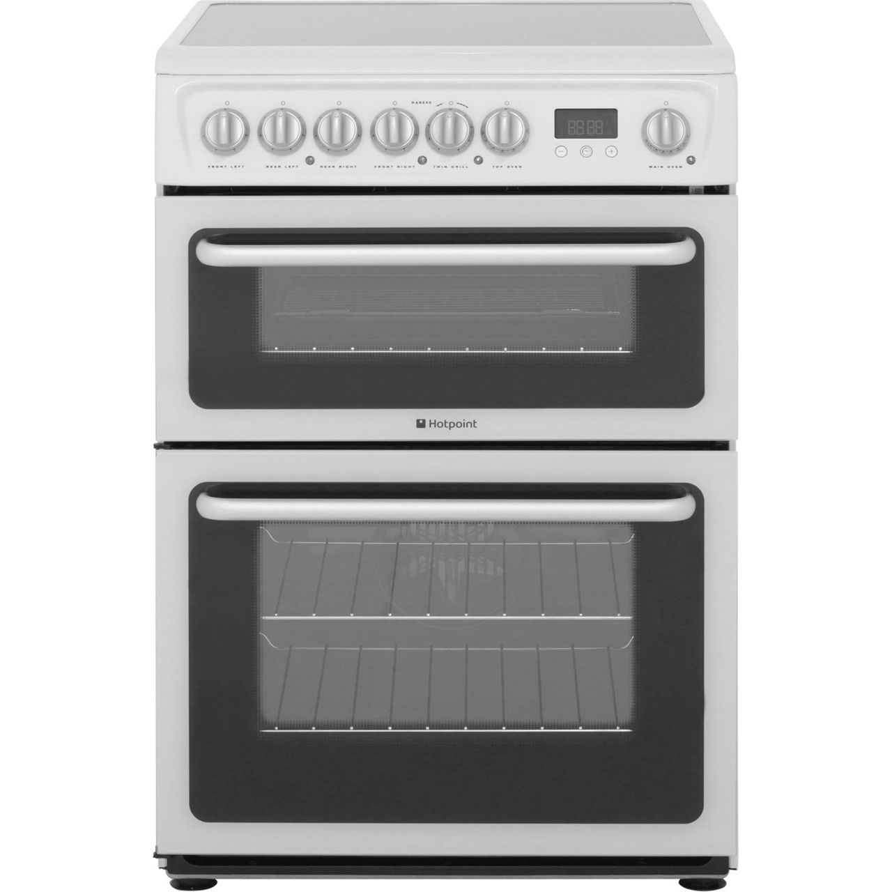 Hotpoint HARE60P Electric Cooker with Ceramic Hob - White