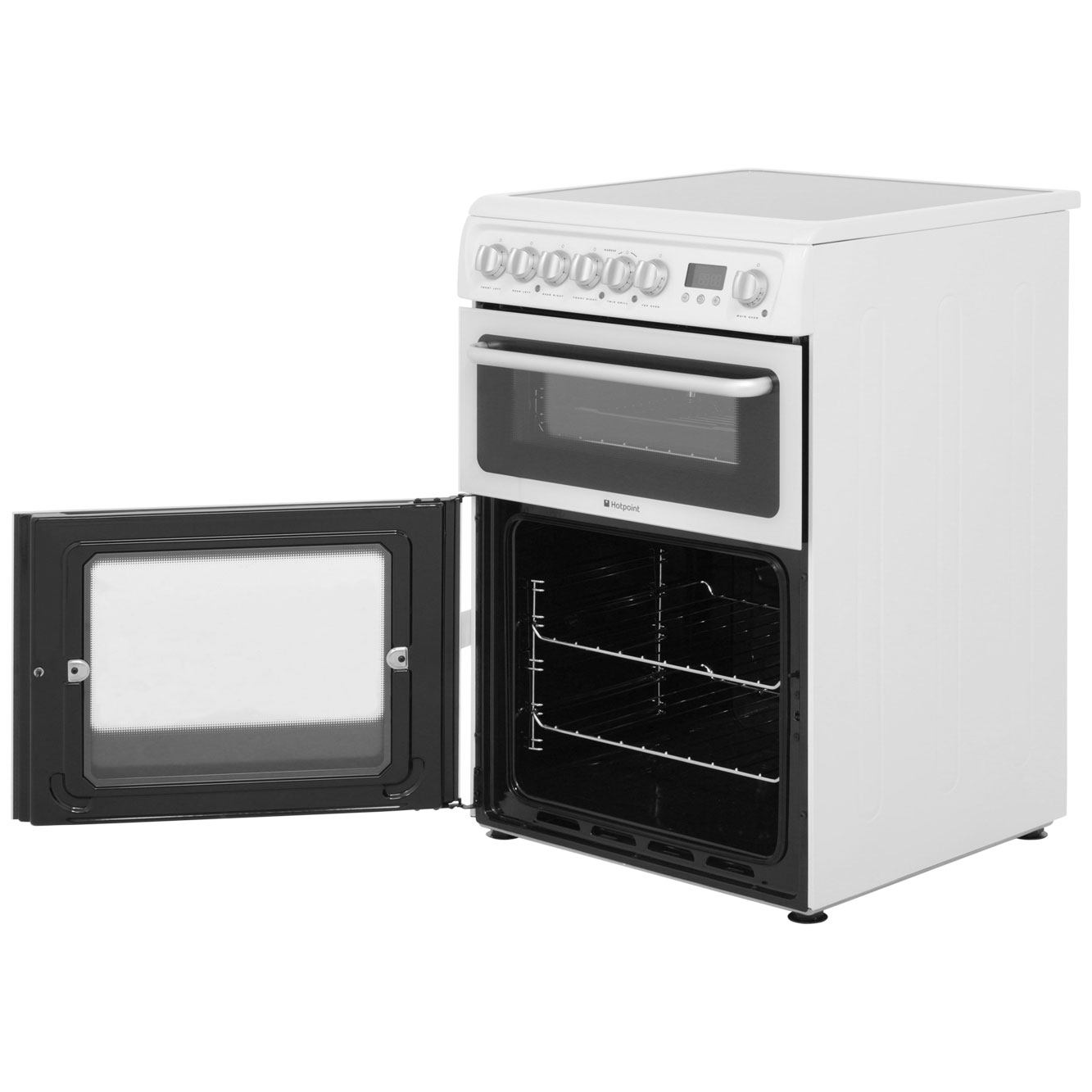 Hare60p Wh Hotpoint Electric Cooker White Vehicle Supply Equipment On Oven Without Hard Wiring
