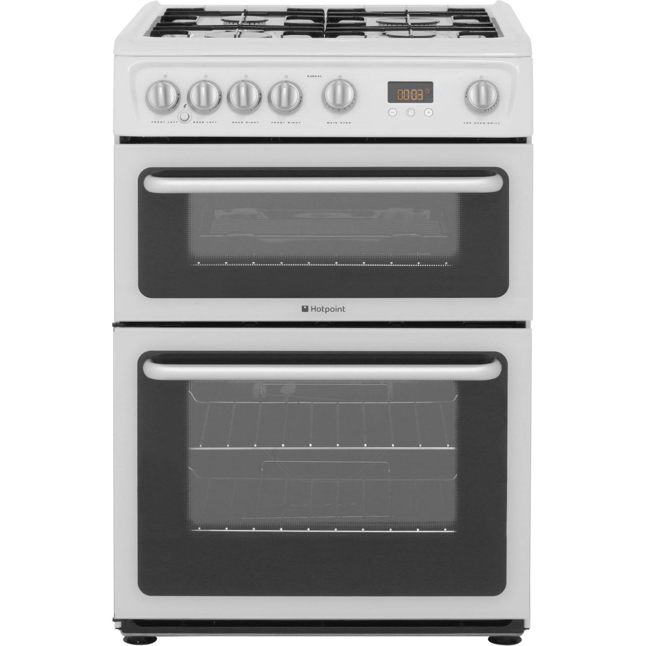 Hotpoint Ultima HARG60P Gas Cooker with Variable Gas Grill - White