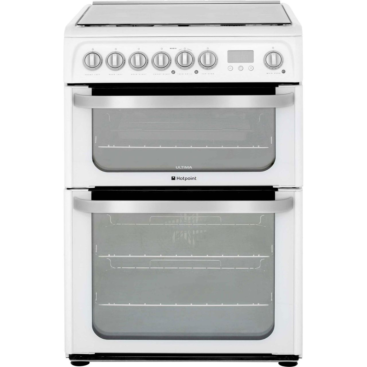 Hotpoint HUD61PS Dual Fuel Cooker - White
