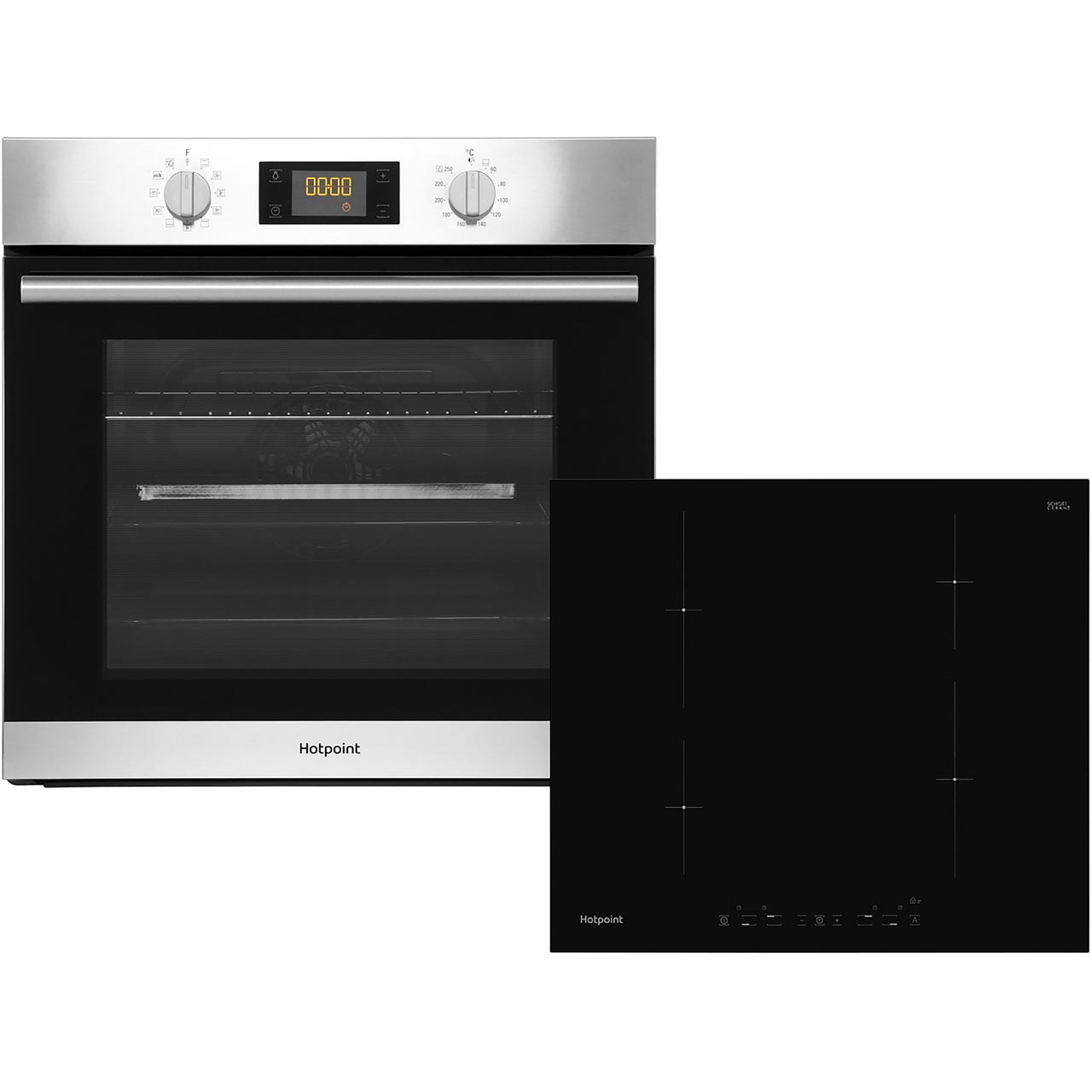 K002907ss Hotpoint Electric Oven And Ceramic Hob Ao
