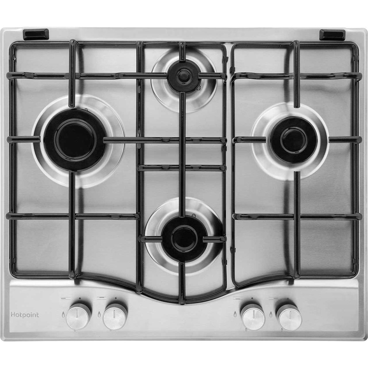 Hotpoint Newstyle PCN642IXH Integrated Gas Hob in Stainless Steel