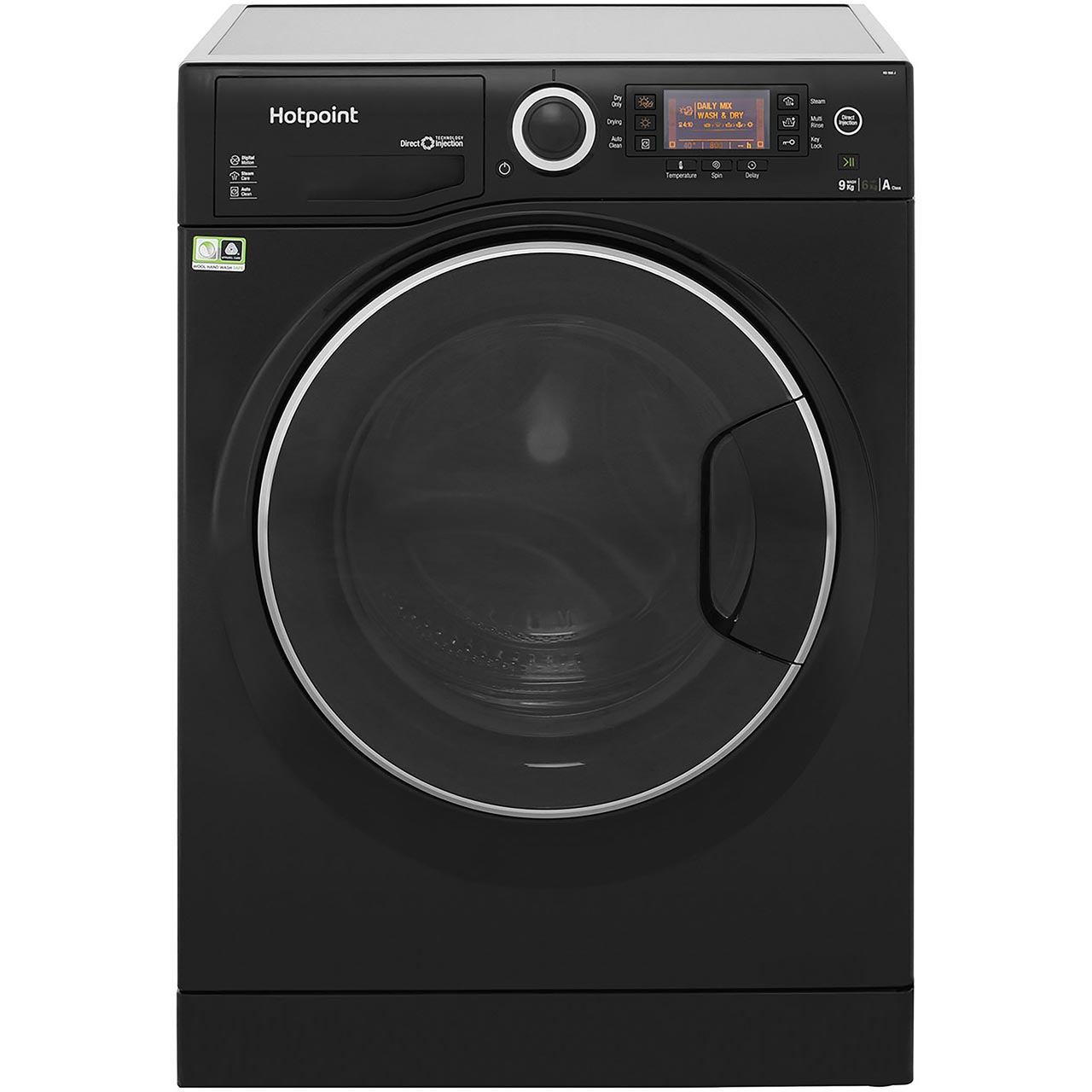 302519f41ae2 Details about Hotpoint RD966JKD Ultima S-Line Free Standing 9Kg A Washer  Dryer Black New from