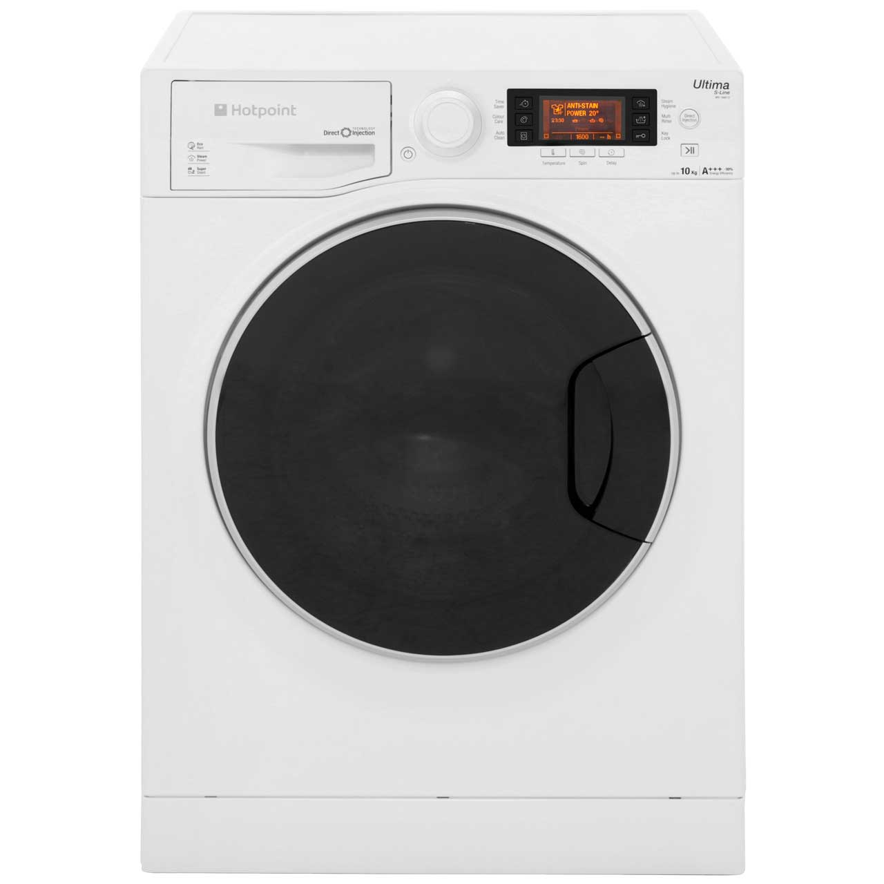 Hotpoint Ultima SLine RPD10667DD Free Standing Washing Machine in White
