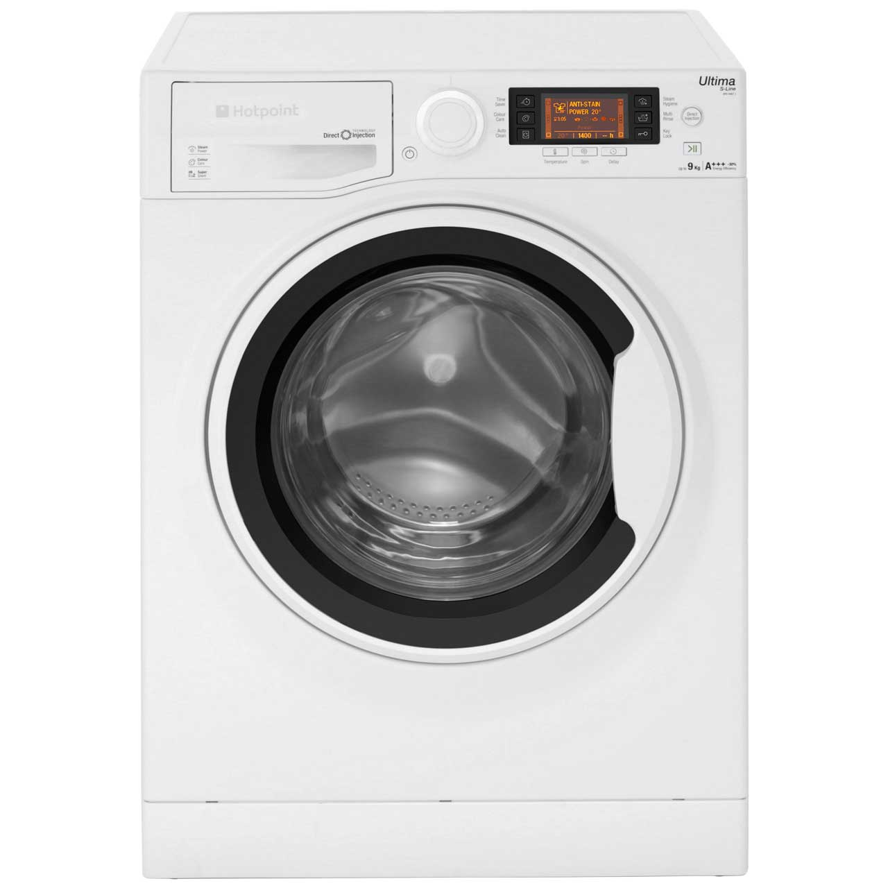 Hotpoint Ultima SLine RPD9467J Free Standing Washing Machine in White