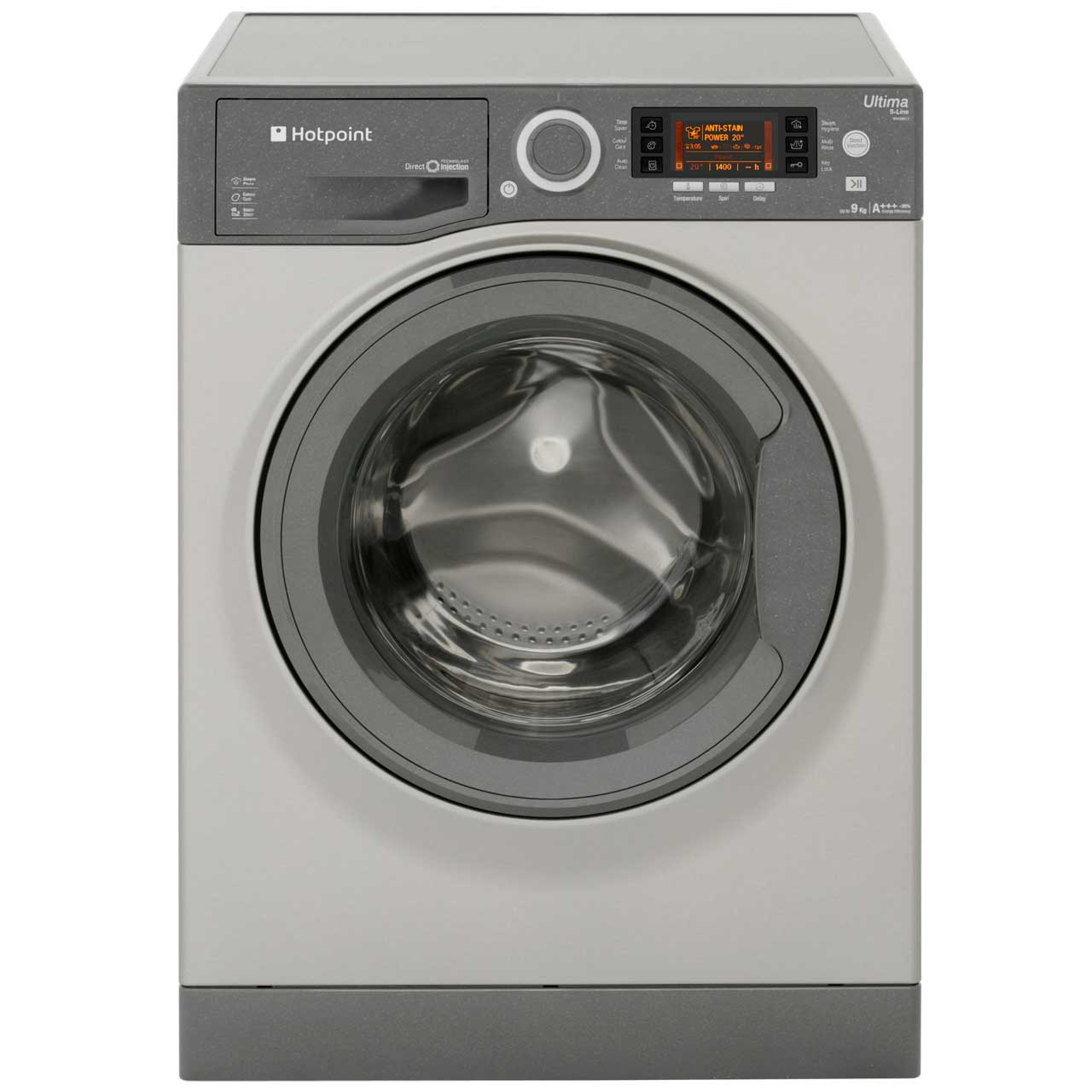 Hotpoint Ultima S-Line RPD9467JGG 9Kg Washing Machine with 1400 rpm - Graphite