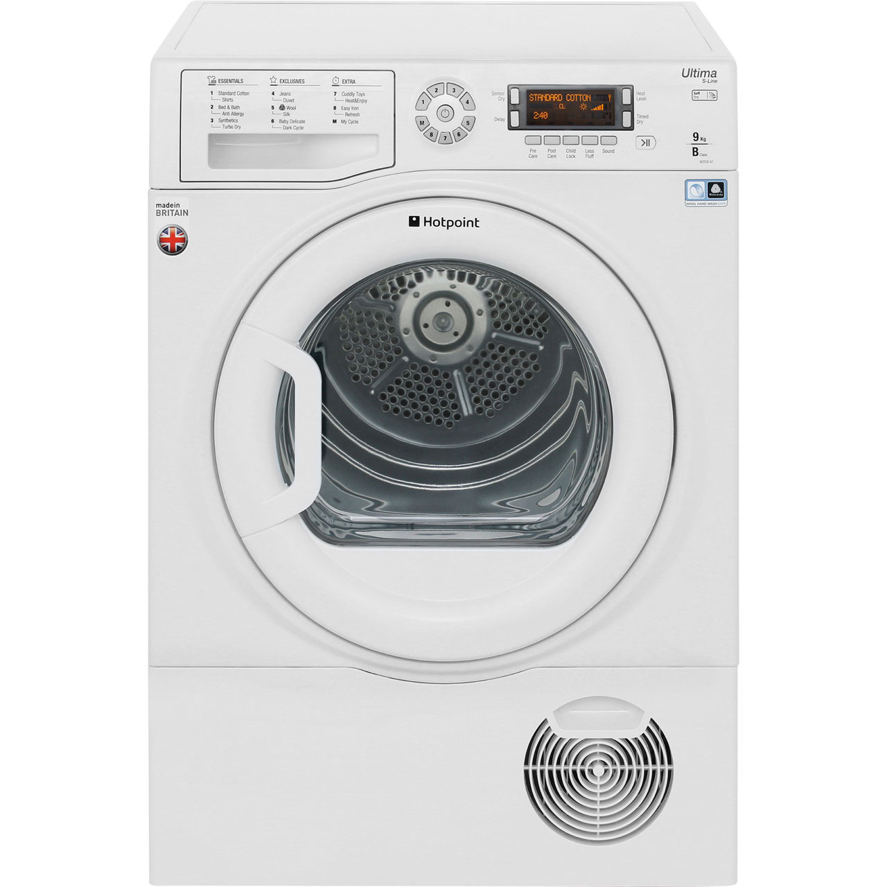 Hotpoint Ultima SLine SUTCD97B6PM Free Standing Condenser Tumble Dryer in White