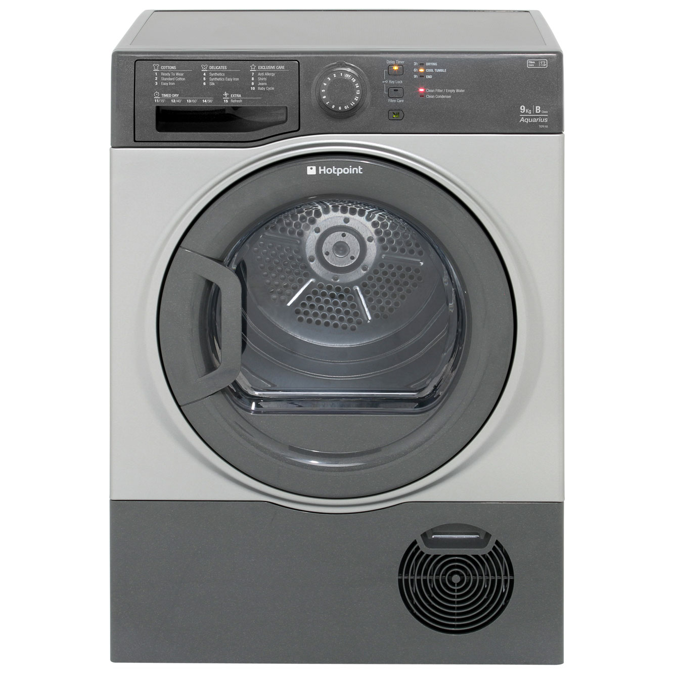 Hotpoint Aquarius TCFS93BGG Condenser Tumble Dryer - Graphite