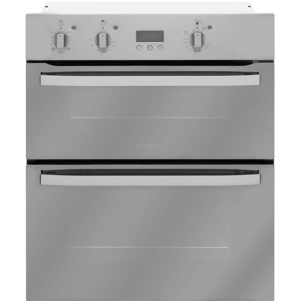 Hotpoint Privilege UHA83CX Built Under Double Oven in Stainless Steel Look