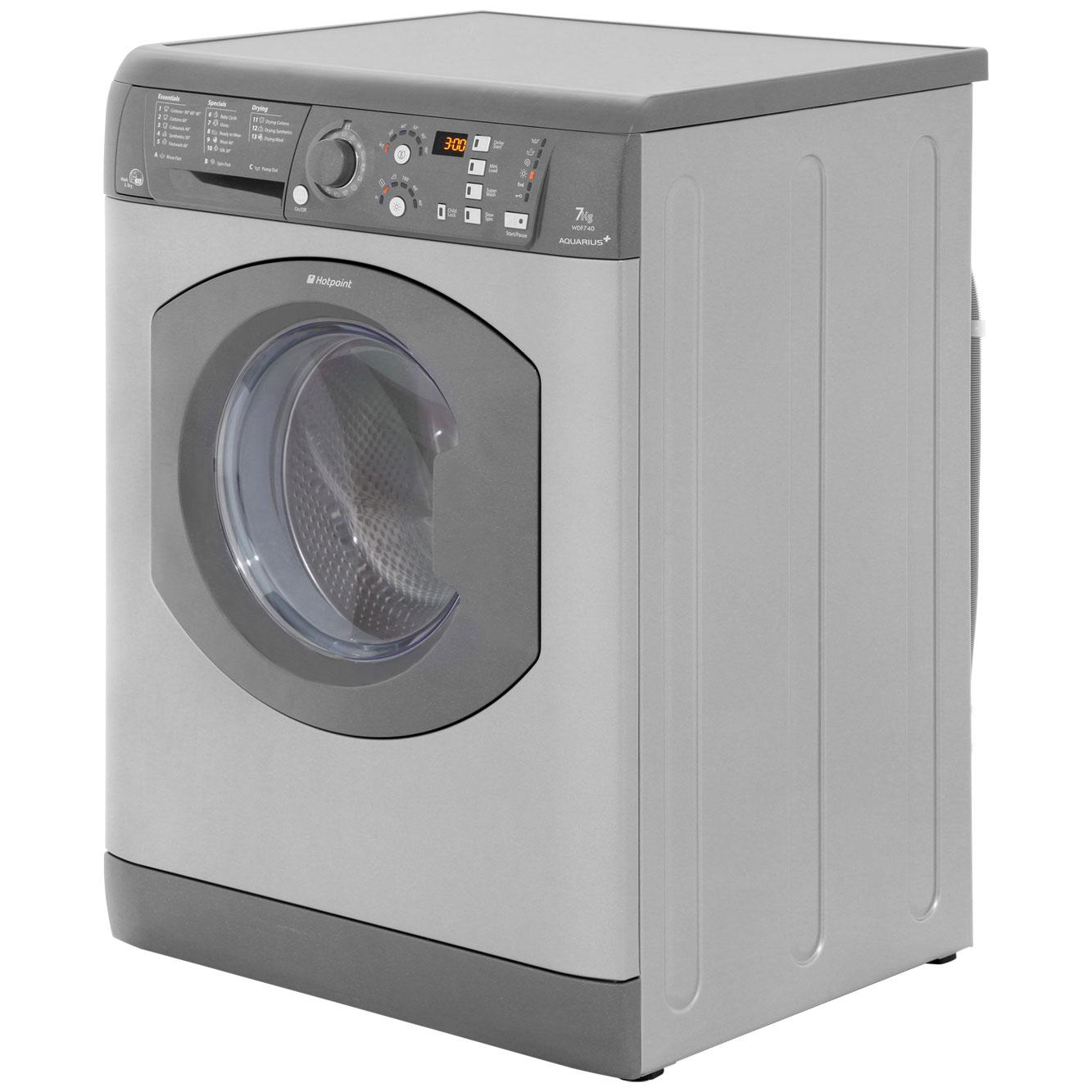 hotpoint aquarius wdf740p 7kg 5kg washer dryer 1400 rpm hotpoint aquarius wdf740p 7kg 5kg washer dryer 1400 rpm polar white