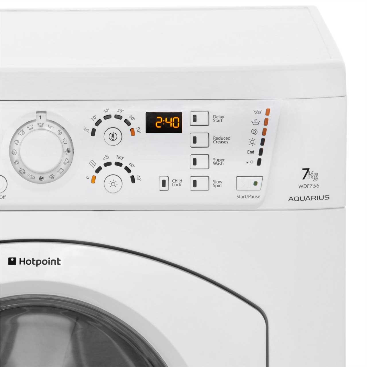 hotpoint aquarius washer dryer wdf756p ao com
