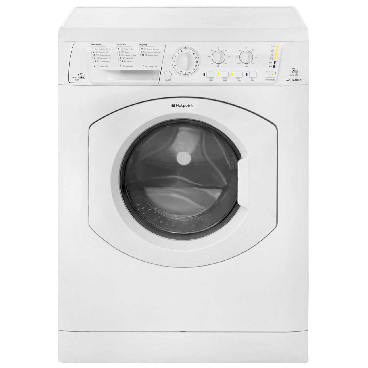 Hotpoint Washer Dryer Combo Hotpoint Aquarius Wdl520p 7kg 5kg Washer Dryer With 1200 Rpm