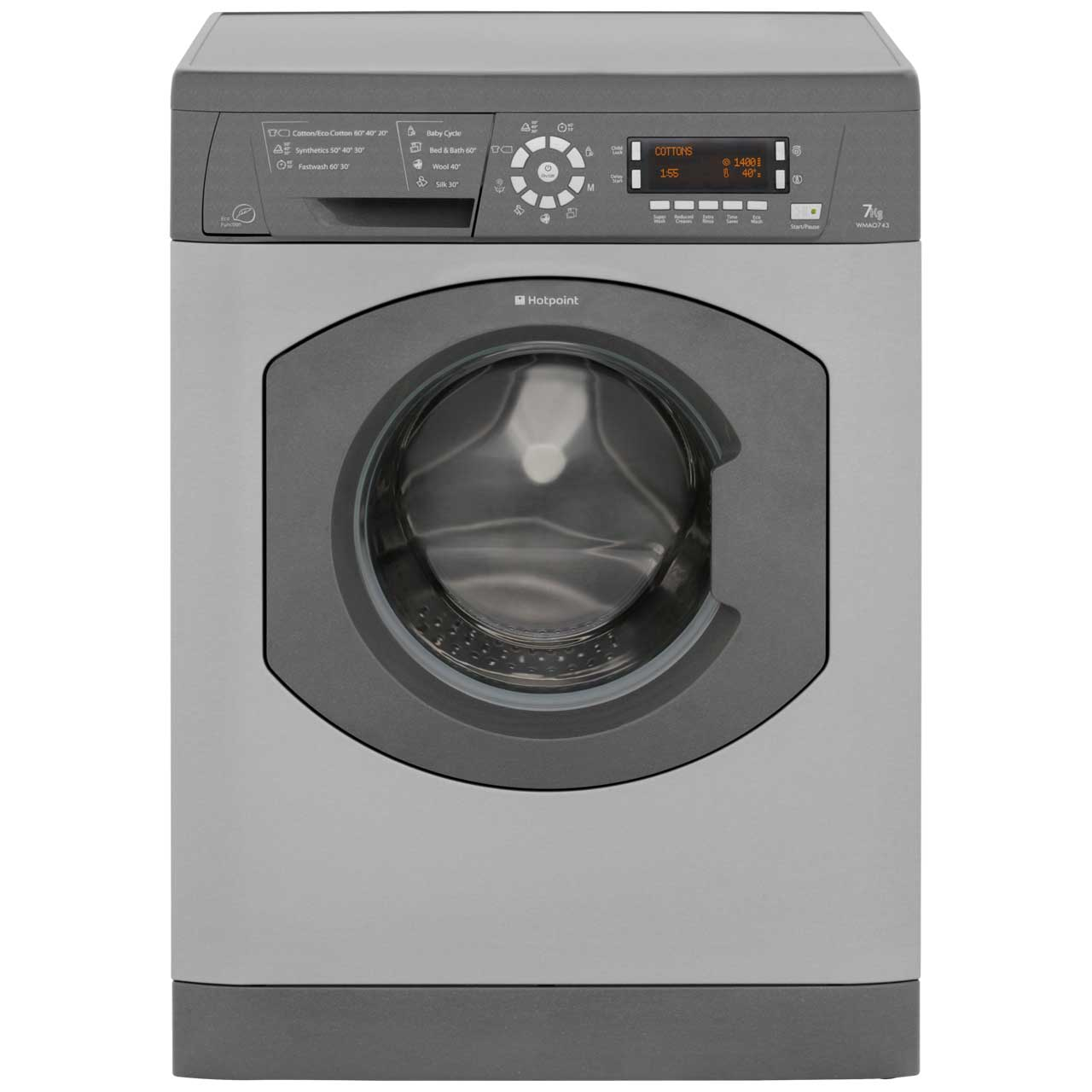 Hotpoint WMAO743G 7Kg Washing Machine with 1400 rpm - Graphite
