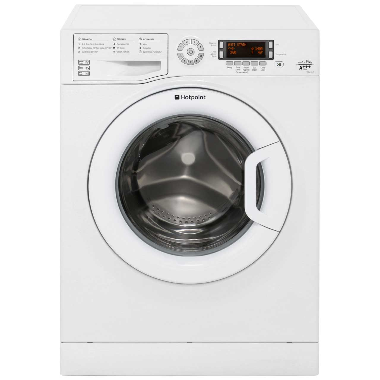 Hotpoint WMAO9437P 9Kg Washing Machine with 1400 rpm - White