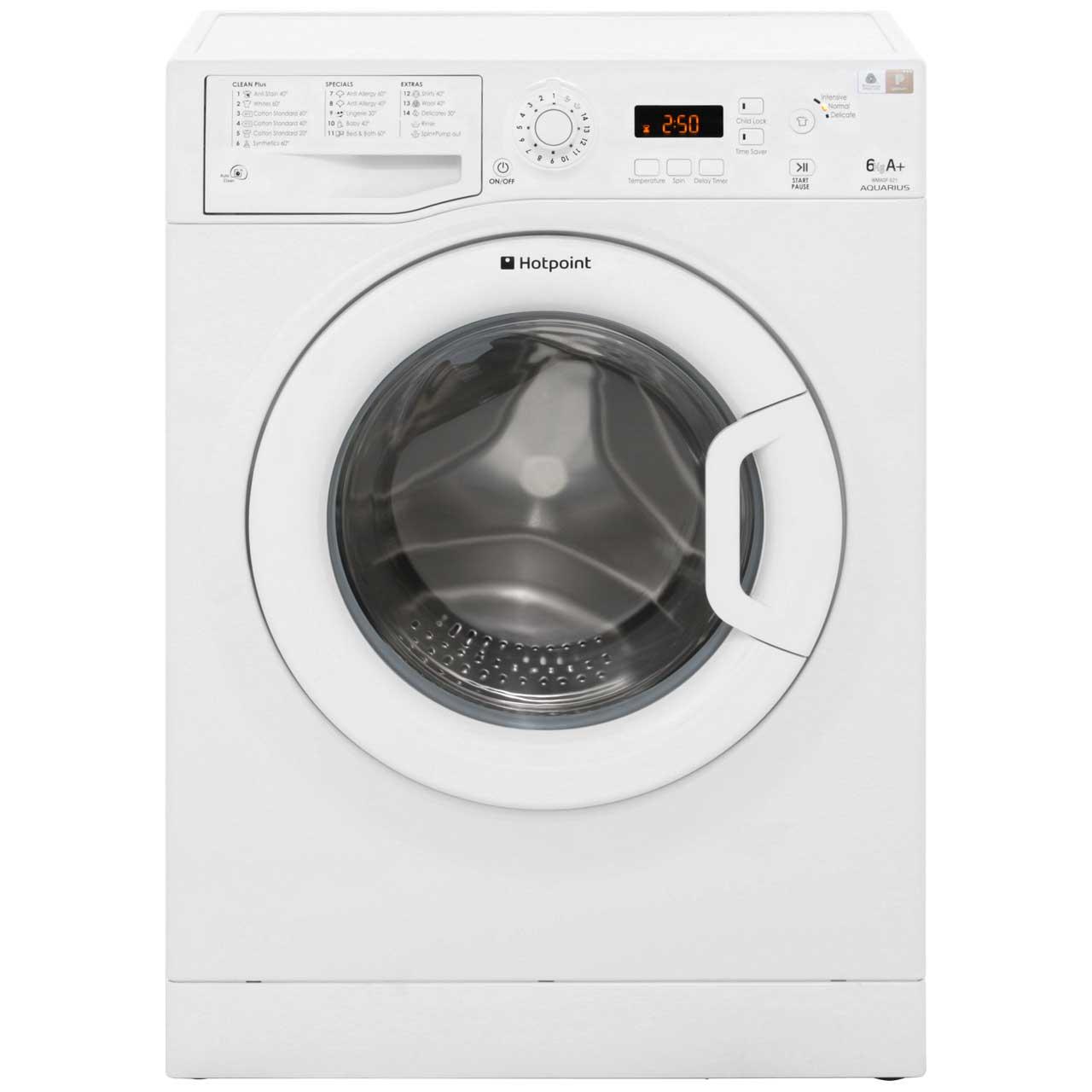 Hotpoint Aquarius WMAQF621P Free Standing Washing Machine in White