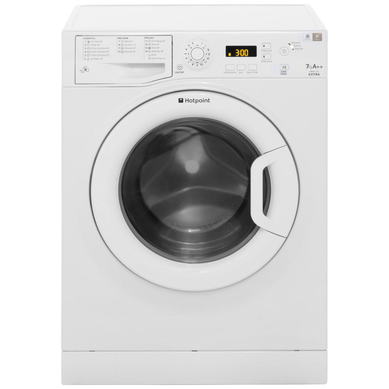 Hotpoint Wmxtf742p Extra A Rated 7kg 1400 Rpm Washing