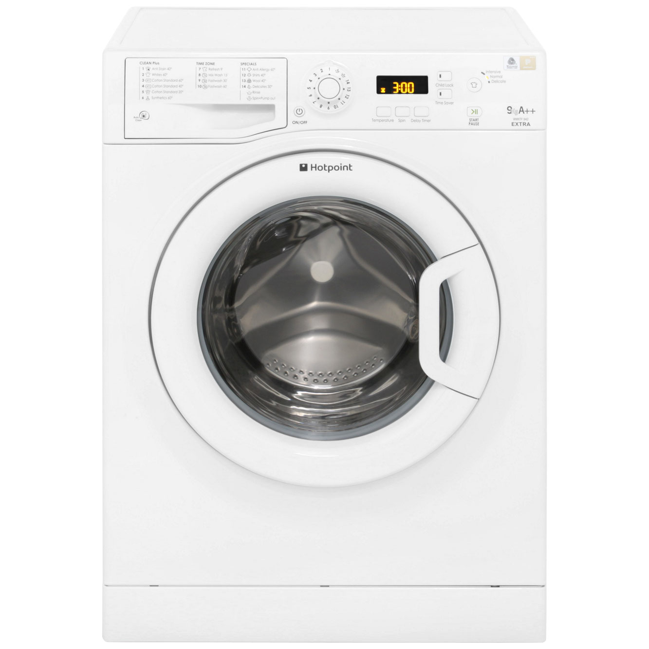hotpoint extra 9kg washing machine wmxtf942p. Black Bedroom Furniture Sets. Home Design Ideas