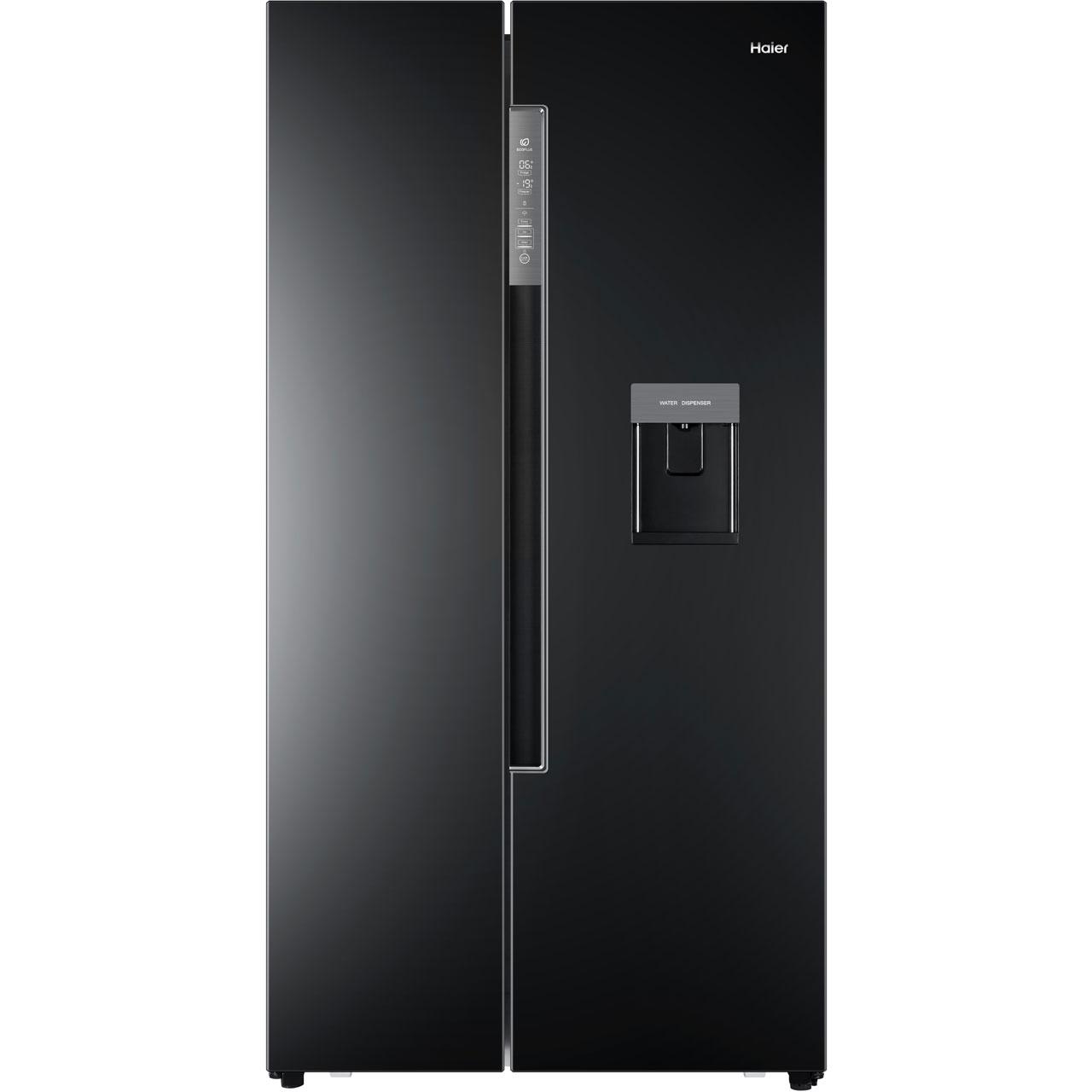 haier american fridge freezer. haier hrf-522ib6 american fridge freezer - black