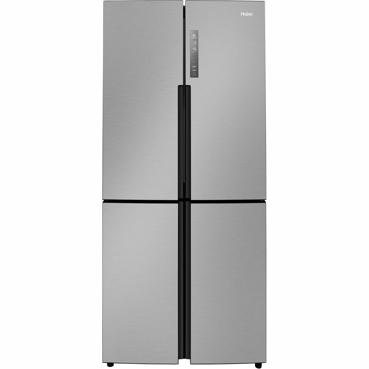 Haier HTF456DM6 Free Standing American Fridge Freezer in Stainless Steel
