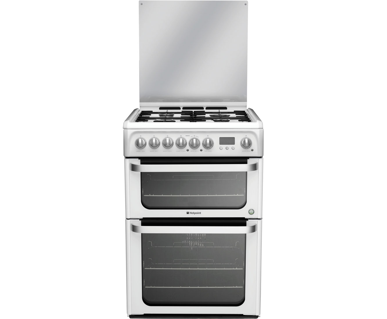 Hotpoint HUD61P Dual Fuel Cooker - White