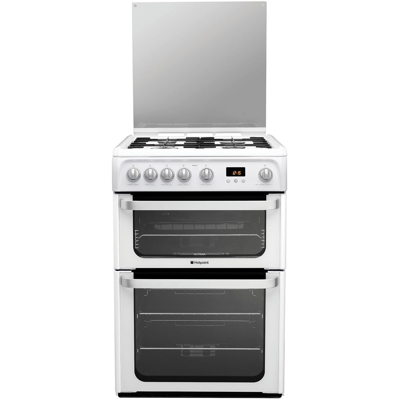 Hotpoint HUG61P Gas Cooker with Gas Grill - White