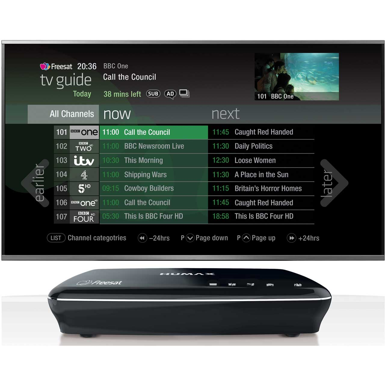 Humax HDR-1100S Smart Freesat HD Set Top Box with Freetime Recorder and 500  GB Hard Drive - Black