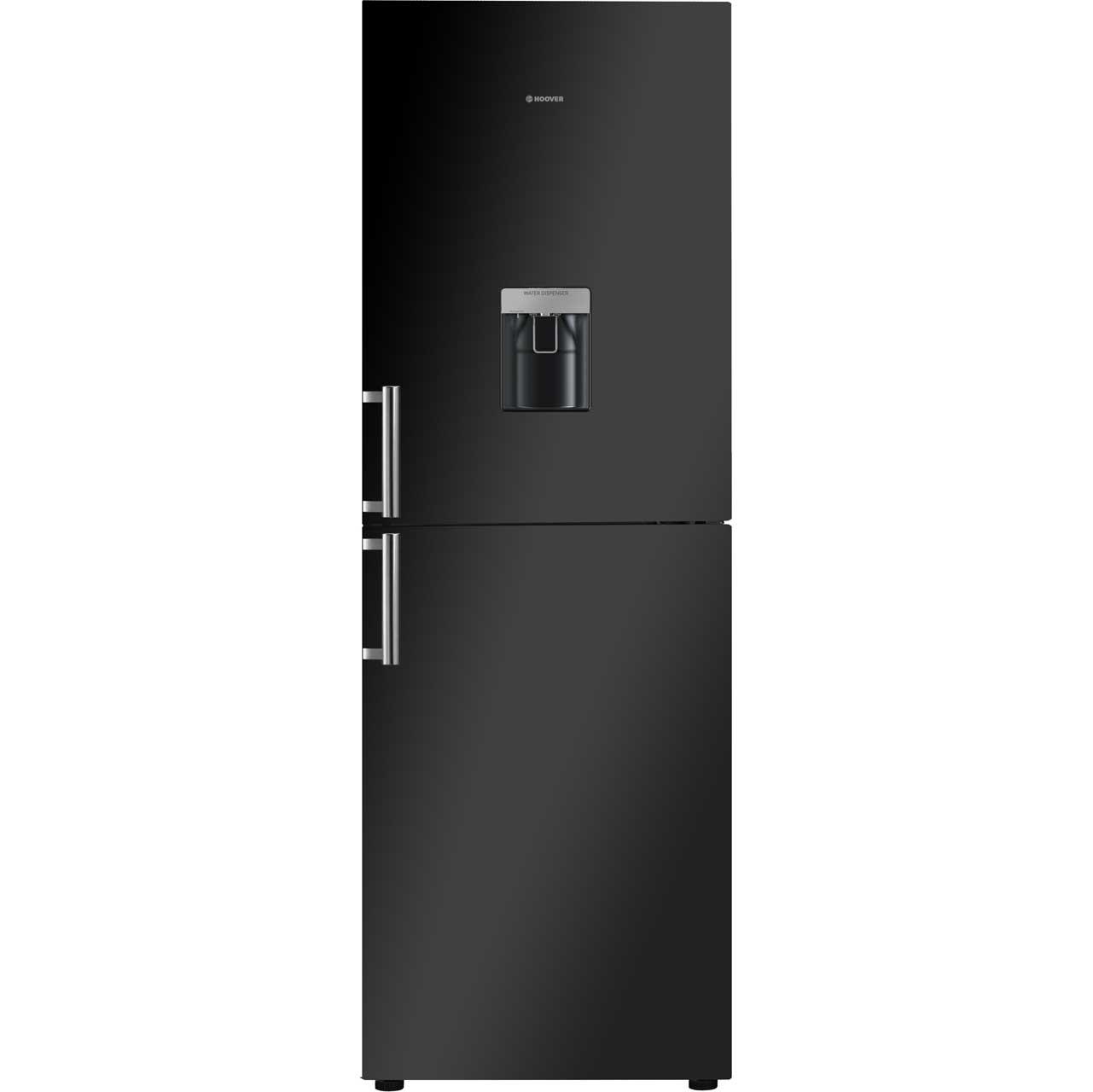 Hoover HVBN6182BWDK Free Standing Fridge Freezer Frost Free in Black