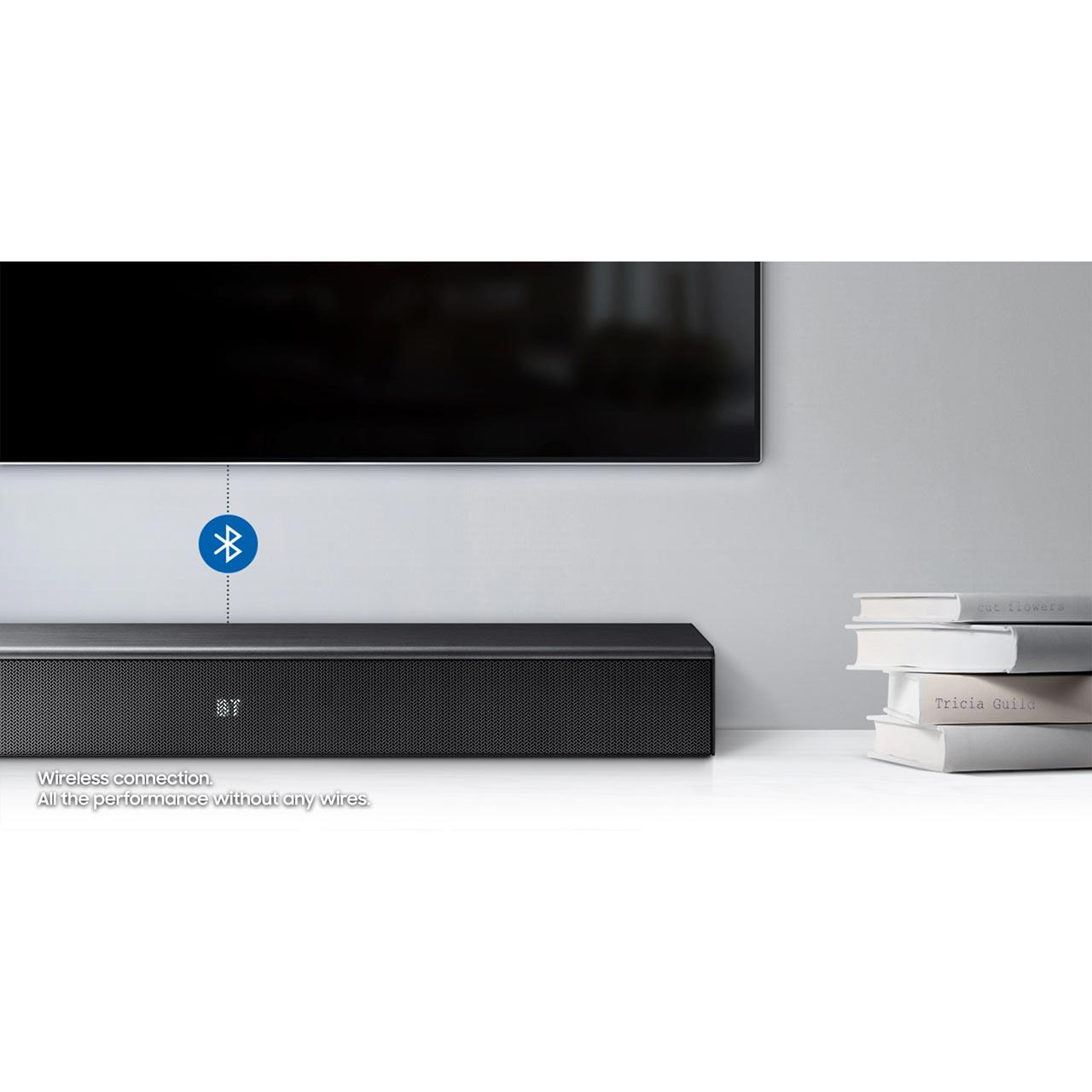 Samsung HW-N300/XU Bluetooth Soundbar with Built-in Subwoofer - Black