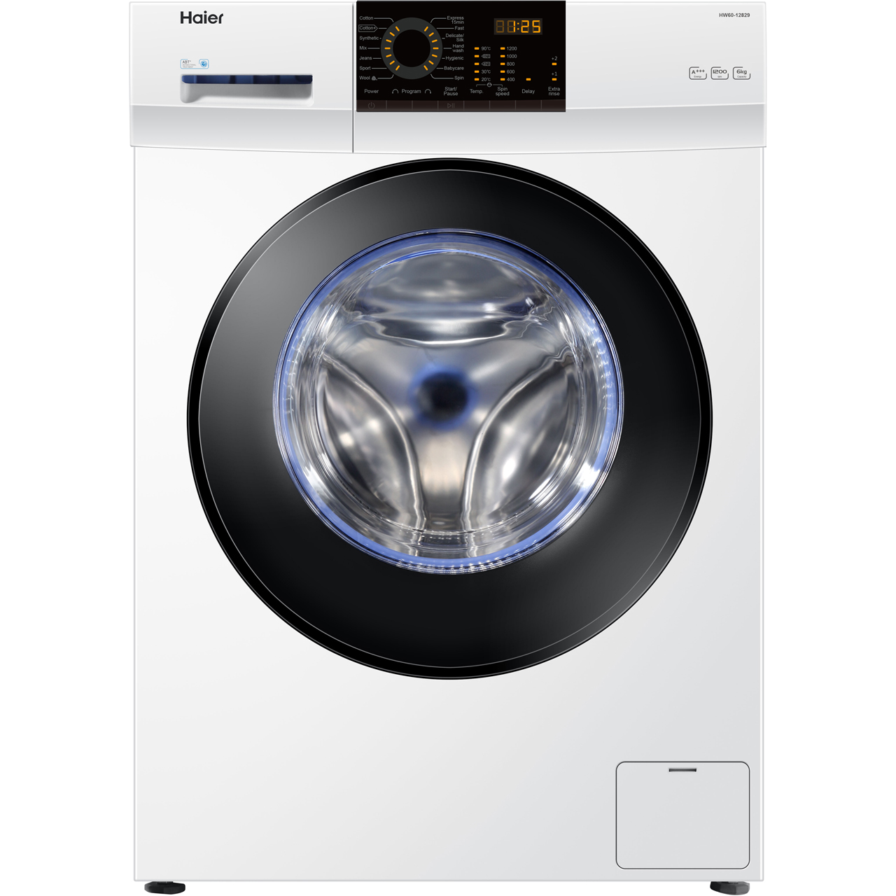 haier 6kg dryer. haier hw60-12829 6kg washing machine with 1200 rpm - white 6kg dryer