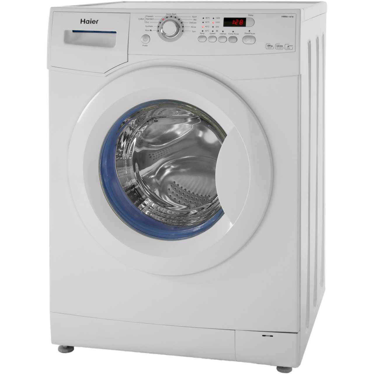 Haier HW801479N Free Standing Washing Machine in White
