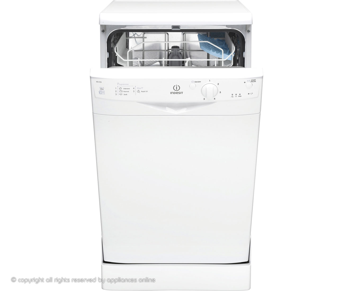 Indesit Start IDS105 Slimline Dishwasher - White