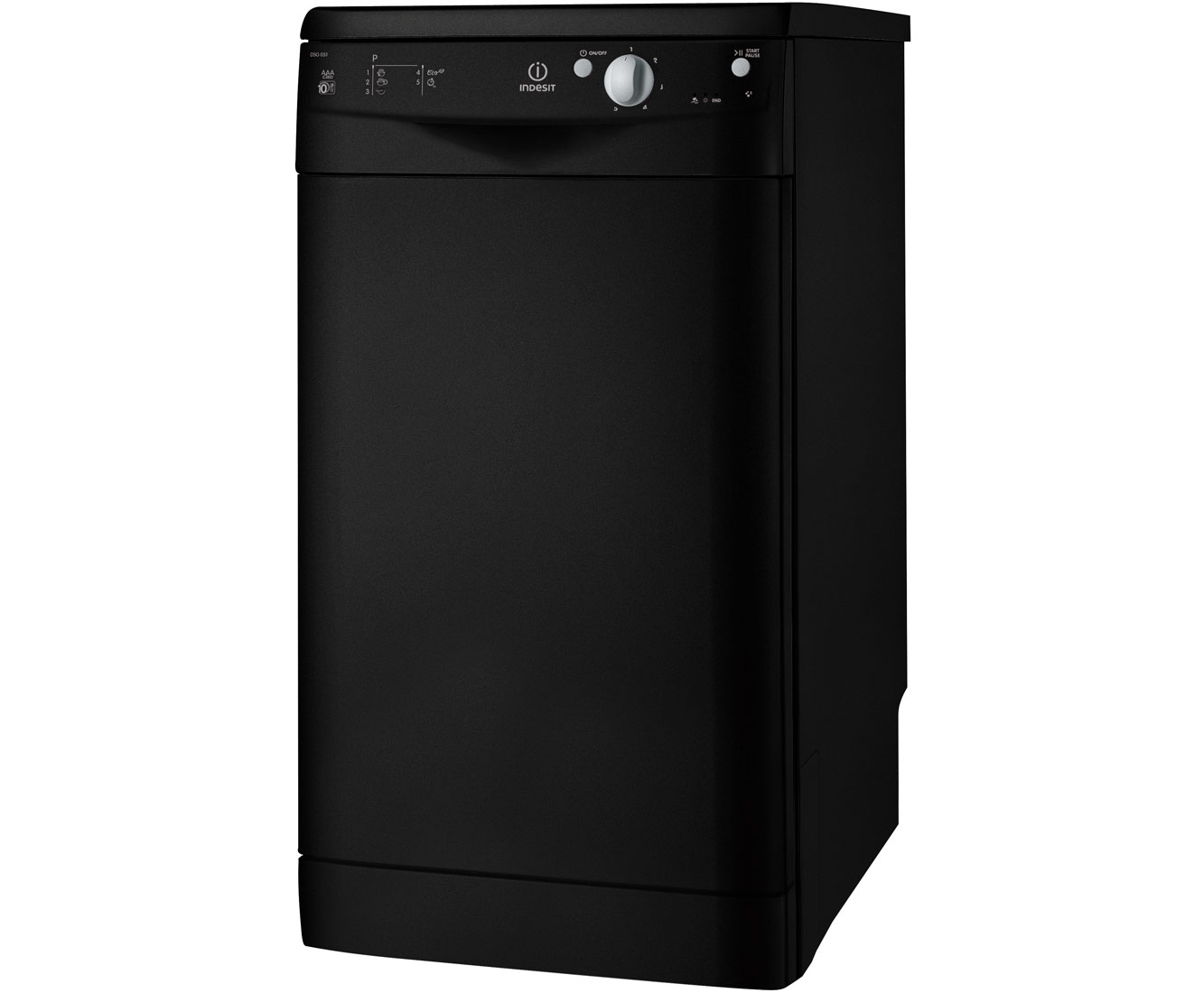 Indesit Start IDS105K Slimline Dishwasher - Black