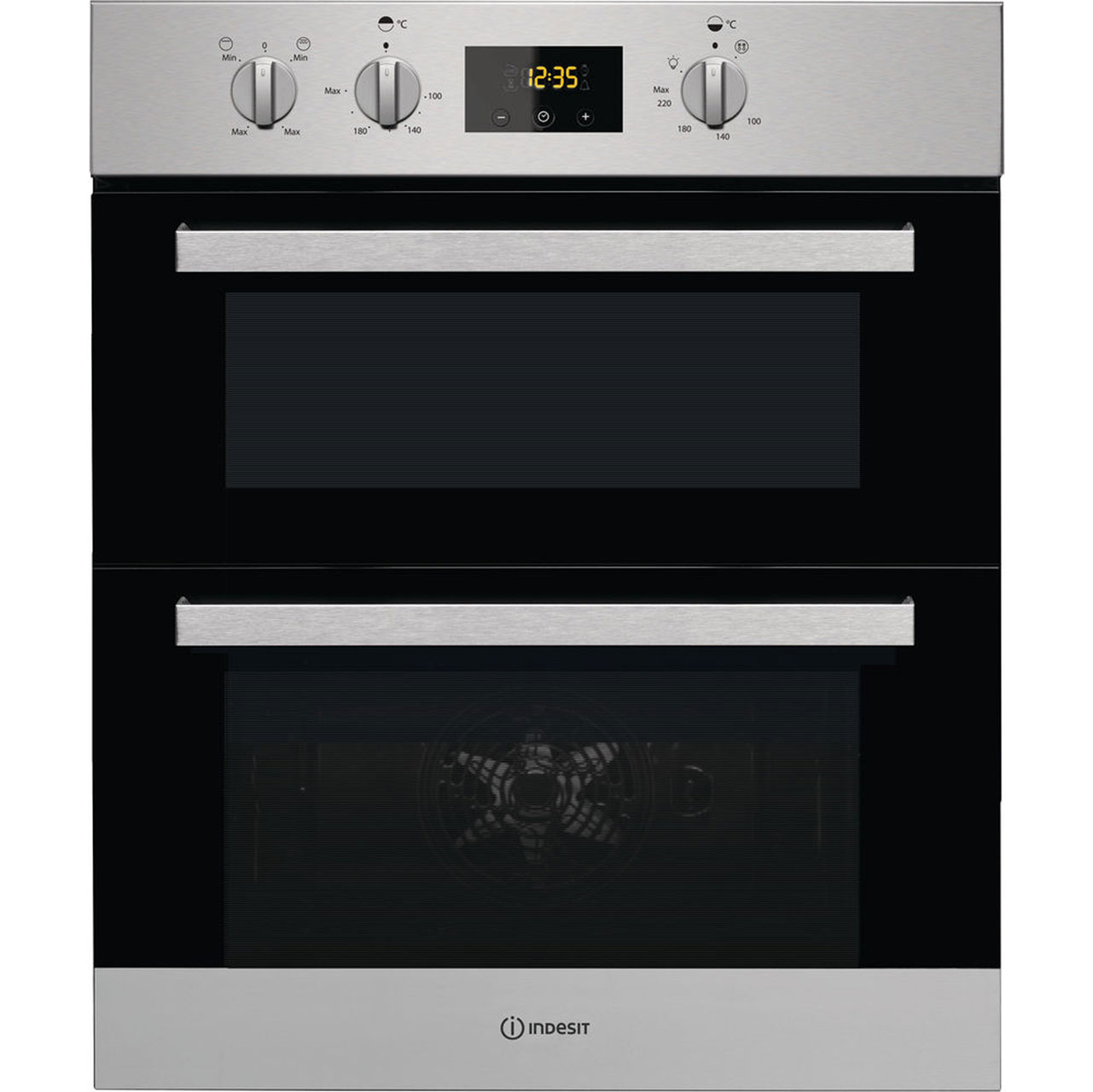 Idu6340ix Ss Indesit Double Oven Silver Ao Com
