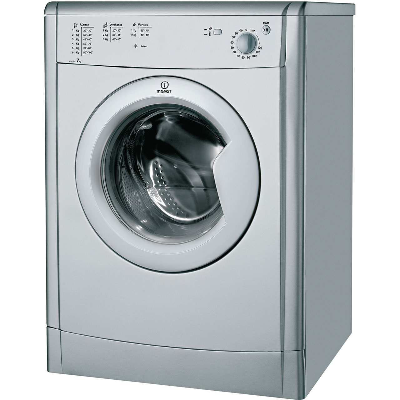 Indesit IDV75S Vented Tumble Dryer - Silver