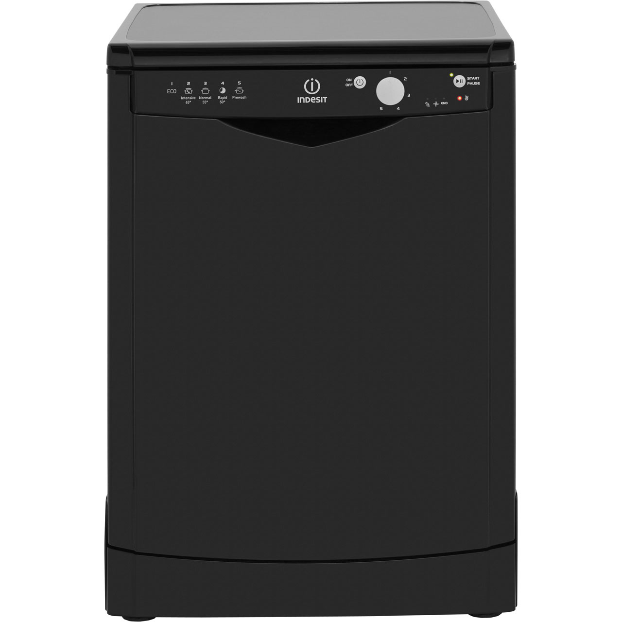 Indesit DFG15B1K Free Standing Dishwasher in Black