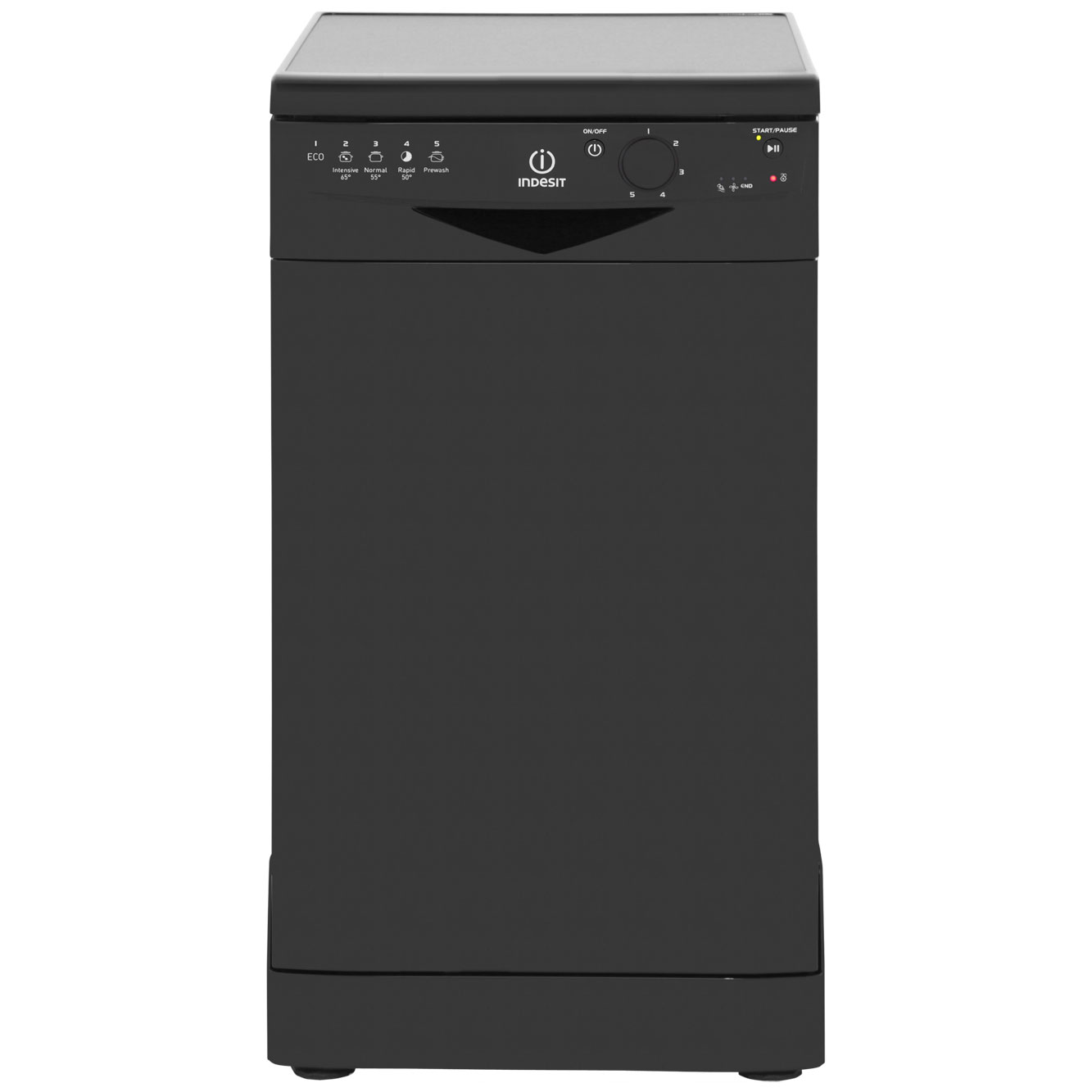 Indesit DSR15BK Free Standing Slimline Dishwasher in Black