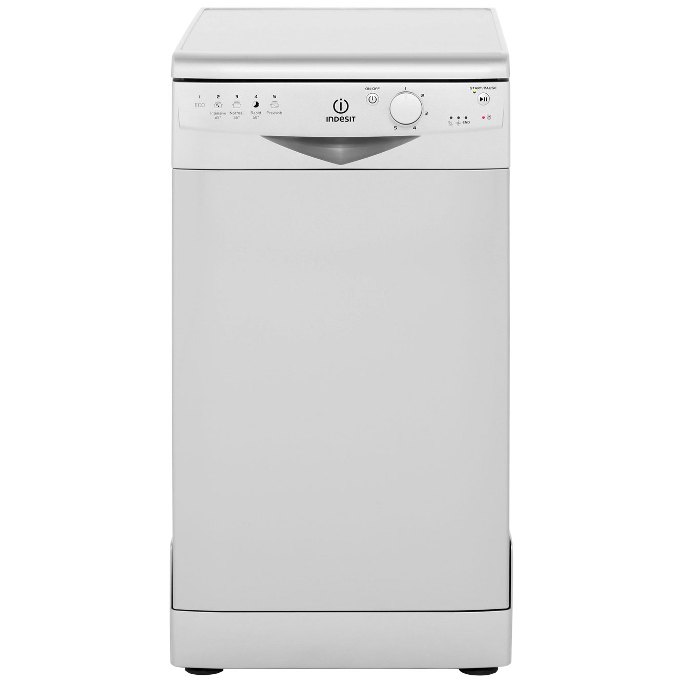 Indesit DSR15BS Free Standing Slimline Dishwasher in Silver