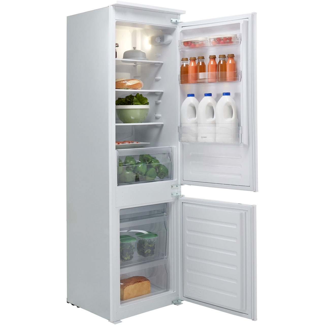 Indesit IB7030A1D 1 Integrated 70/30 Fridge Freezer with Sliding Door  Fixing Kit - White - A+ Rated