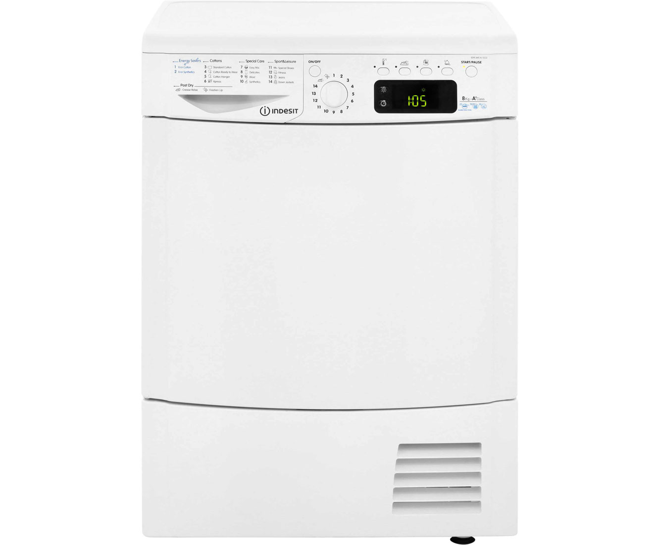 Indesit IDPE845A Heat Pump Tumble Dryer - White