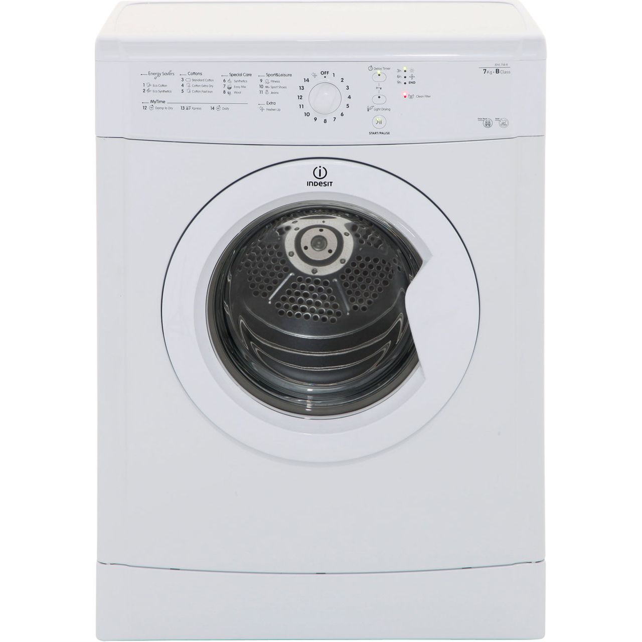 Indesit IDVL75BR Free Standing Vented Tumble Dryer in White