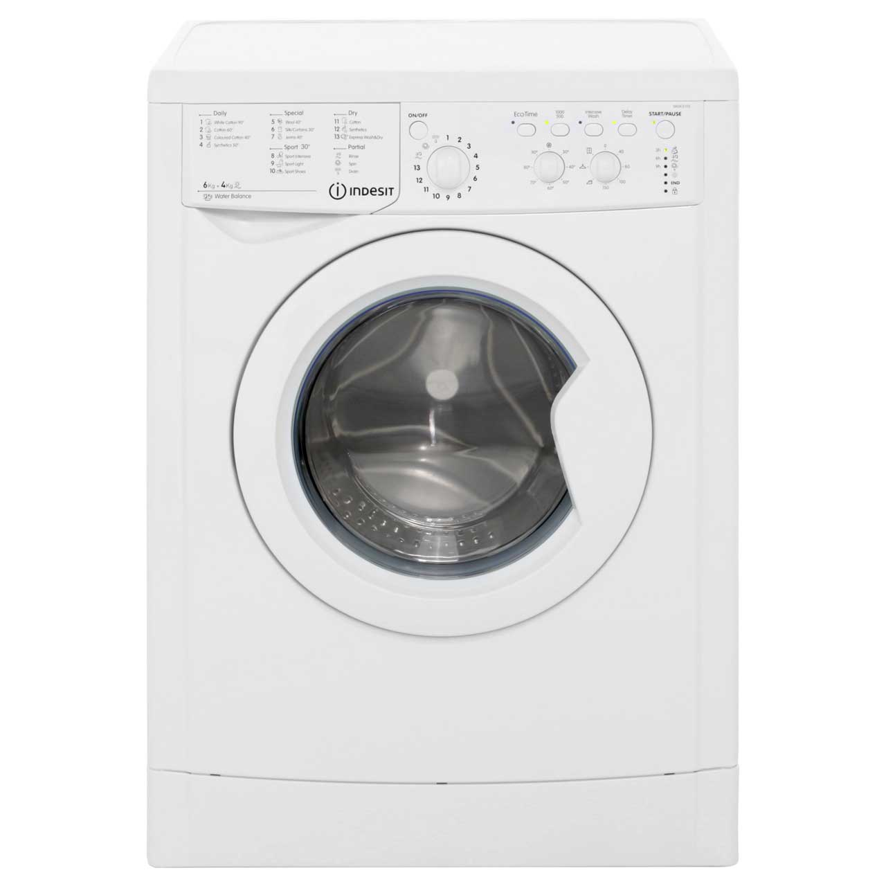Indesit IWDC6105 6Kg / 4Kg Washer Dryer with 1000 rpm - White